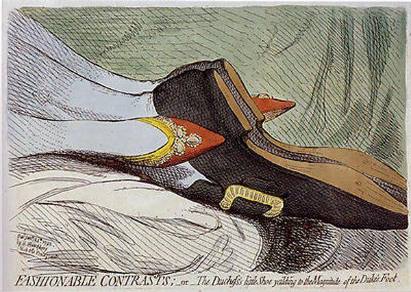 В той же книге упоминается и отец политической карикатуры Джеймс Гилрей...