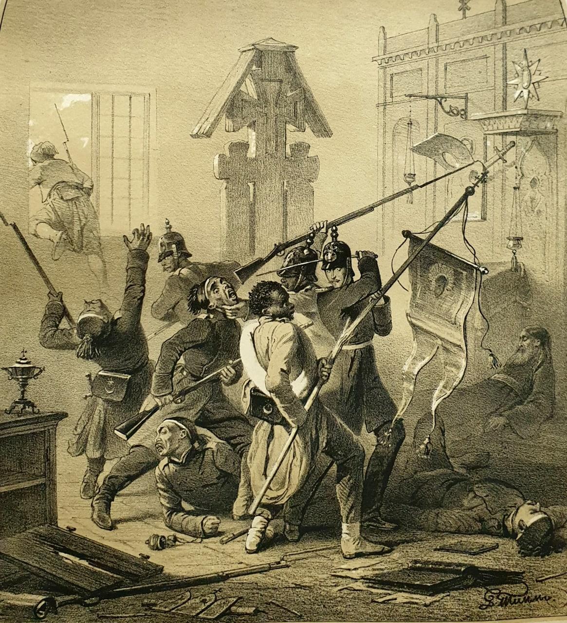 Сражение при селе Четати  «Эпизод из сражения в селе Четати 25 декабря 1853...