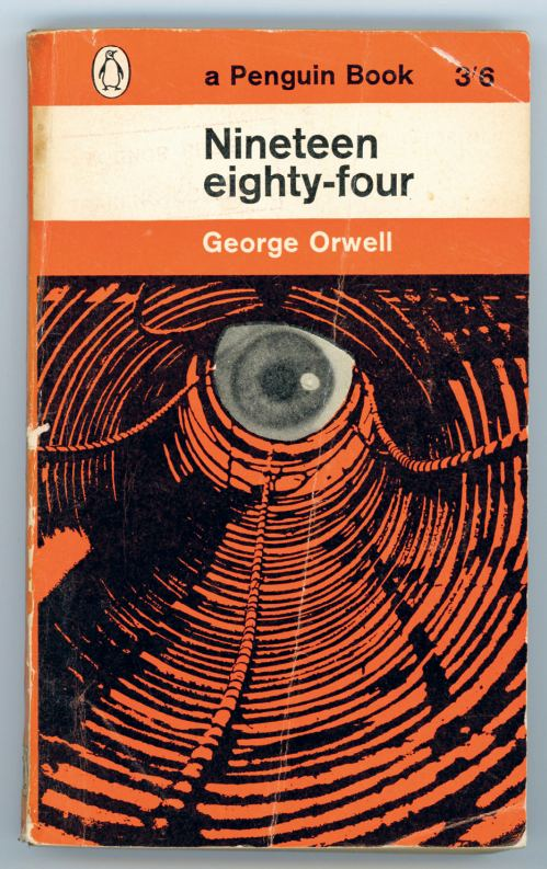 """Из книги о дизайне обложек. """"1984"""". Варианты 1962г и 2013г."""