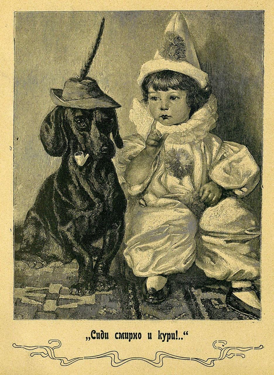 sidi-smirno-i-kuri-risunok-detskiy-zhurnal-svetlyachok-1904-god