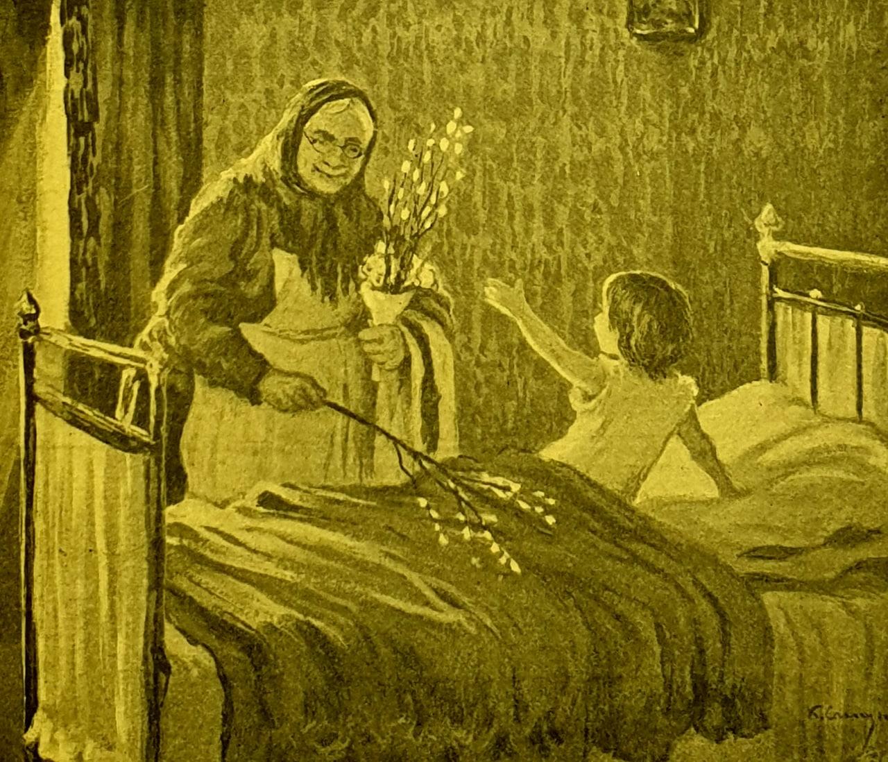 В старину существовал обычай в Вербное воскресенье тем, кто проспал вербную...