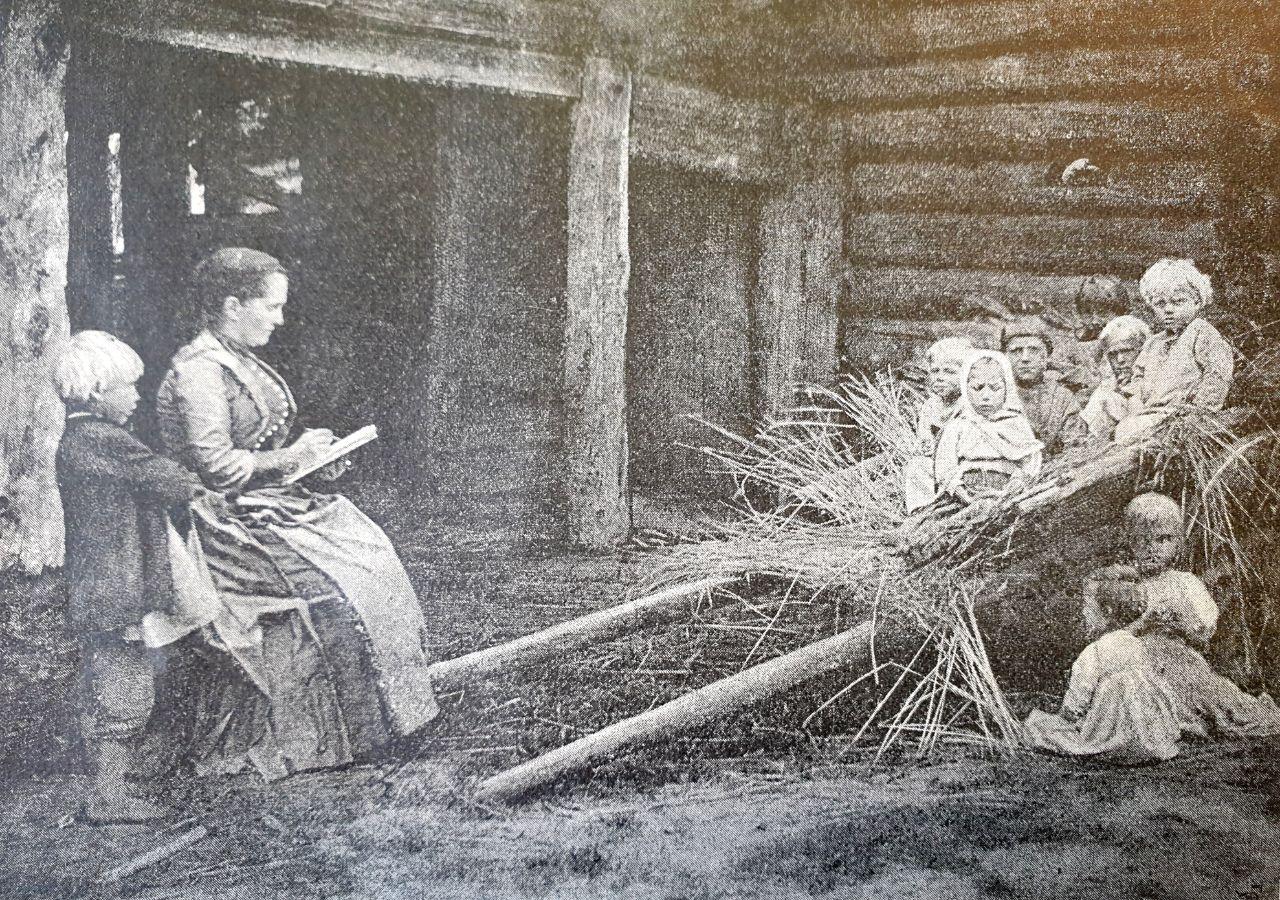 Выдающаяся художница Елизавета Меркурьевна Бём на этюде  1896 год.