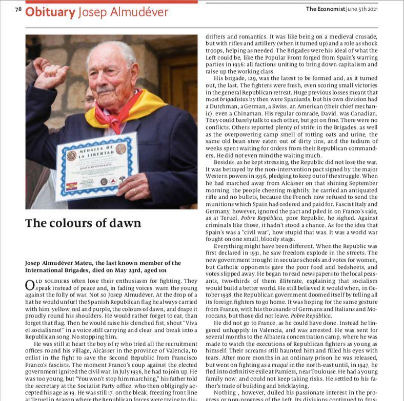 Невероятно, что в свежем The Economist вышел некролог в честь последнего из...