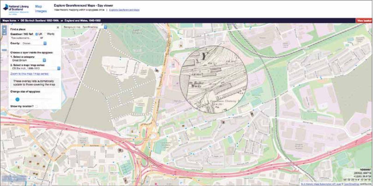 Карта Глазго (Национальная библиотека картографических данных Шотландии).