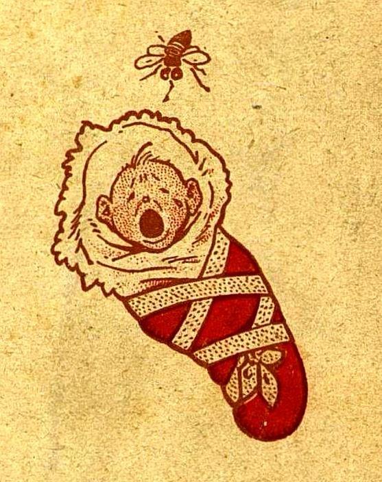 Усмиреніе мухи  Муха летала И страшно жужжала, На носъ малютки садилась...