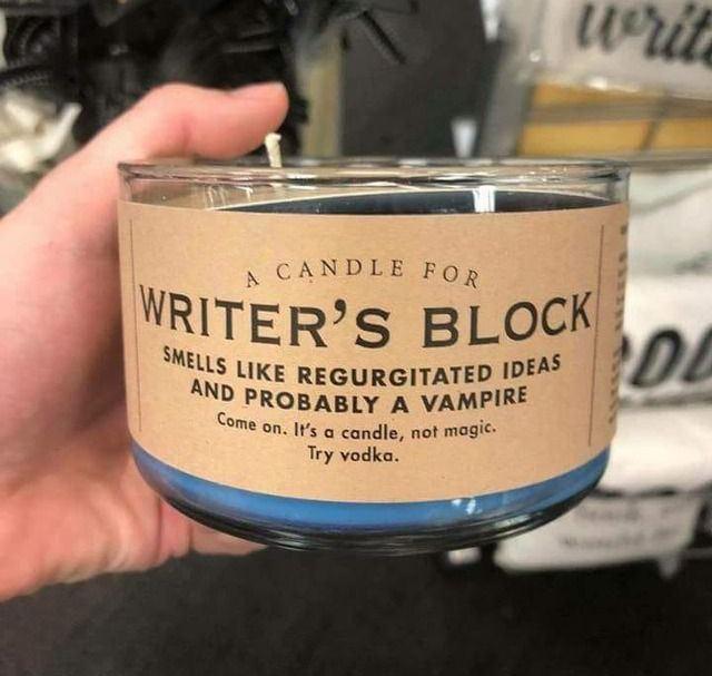 Жечь в случае писательского блока в острой фазе. Гарантирован незамедлительный...