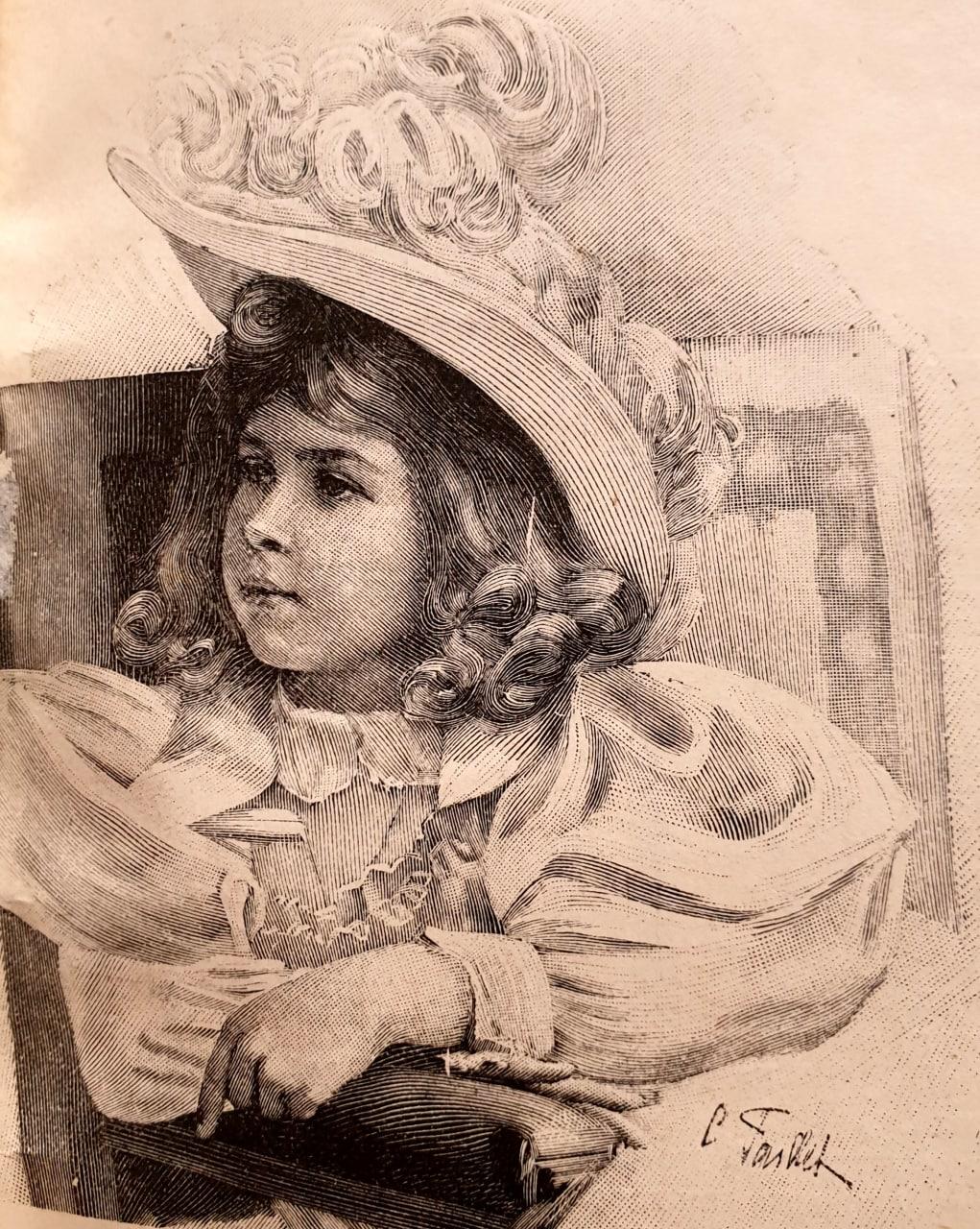 Шляпа для дѣвочки отъ 2-12 лѣтъ  1895   детскаямода
