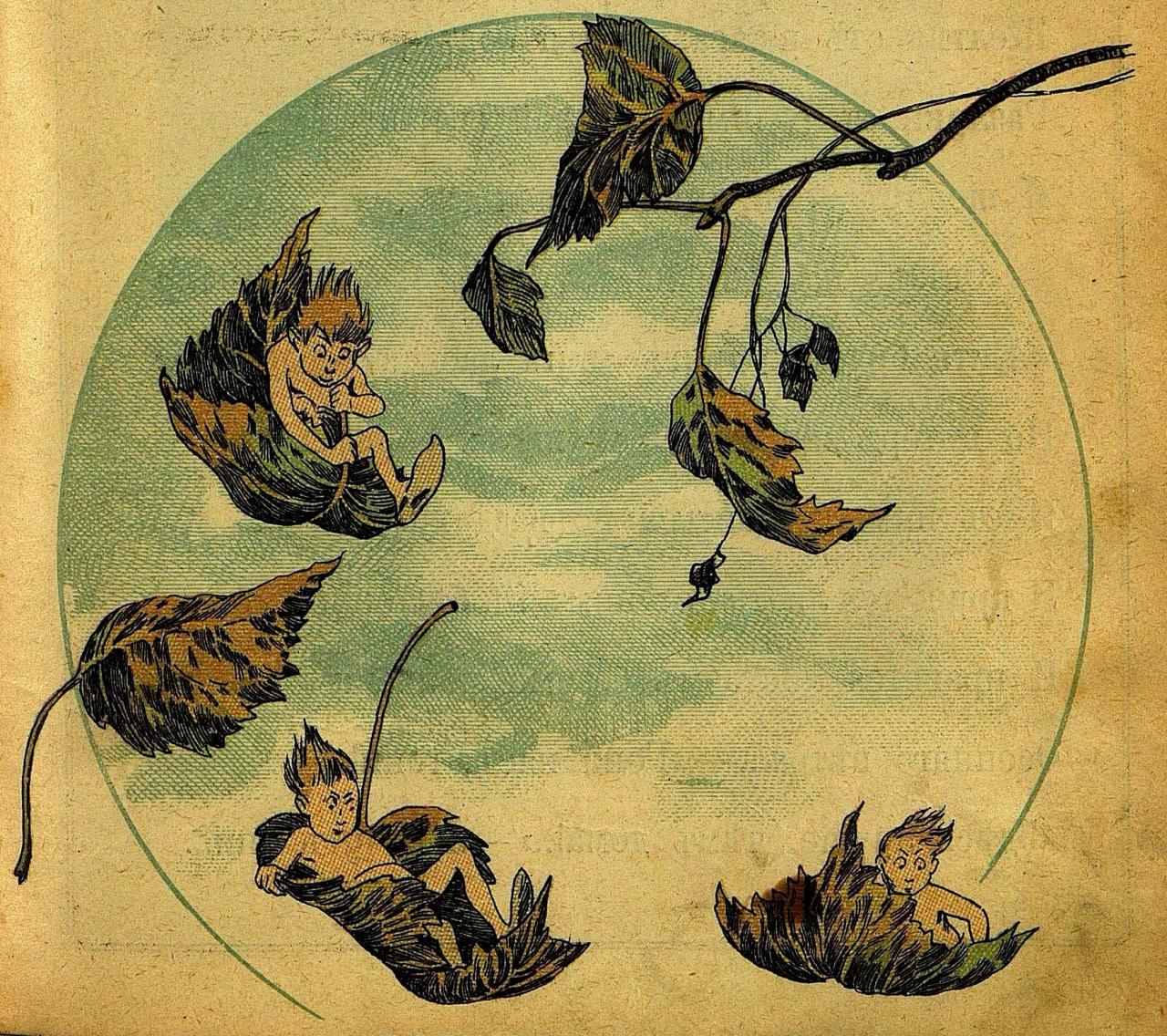 Осенніе листья  Осенніе листья готовы сорваться, Желтѣя отъ ужаса, листья...