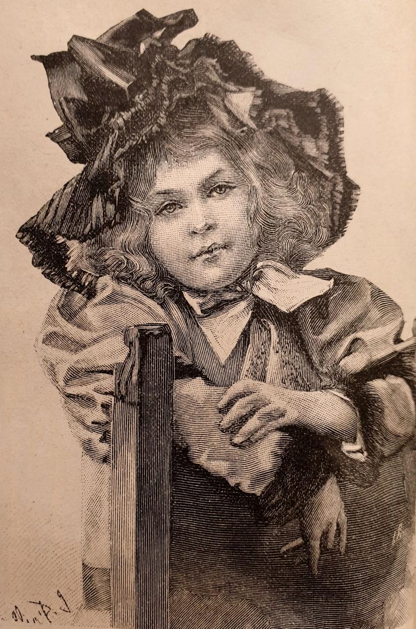 Капоръ для дѣвочки отъ 2-10 летъ  1896   детскаямода