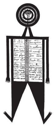 «Моим любимцем стал демон мандеев Динанухт — полу-человек, полу-книга,...